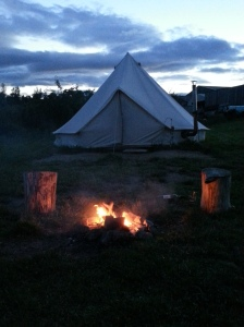 Glamping fire